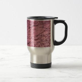 Pink and Grey Grass Plantscape Travel Mug