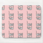 Pink and Grey Mousie Mousepad