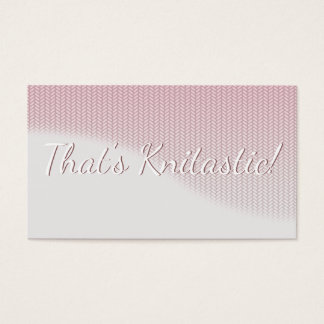 Pink and Grey Soft Wave Graphic Stitch Knitting Business Card