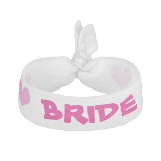Pink and Hearts Bride Headband