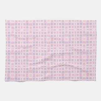 Pink and Lavender Mosaic Pattern Kitchen Towel