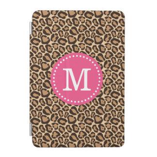 Pink and Leopard Print Custom Monogram iPad Mini Cover