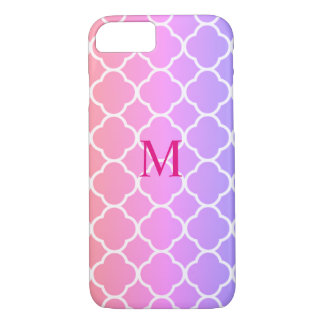 Pink And Lilac Abstract Art phone case