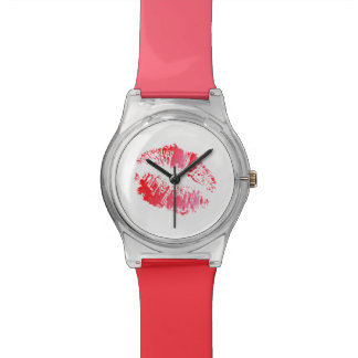 Pink and Lipstick Kiss Watches