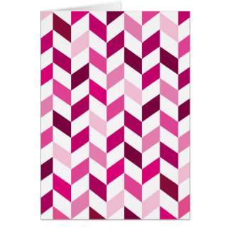 Pink and Magenta Herringbone Pattern Card