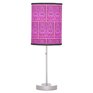 Pink and Magenta Ice Pattern Table Lamp
