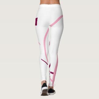 pink and magenta leggings