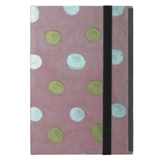 Pink and Metallic Polka Dot Case for iPad