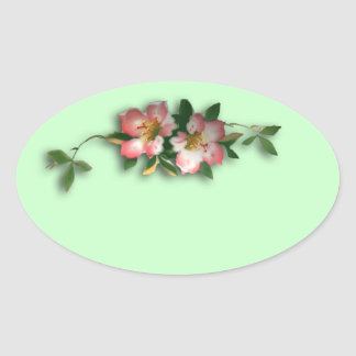Pink and Mint Floral Background Stickers