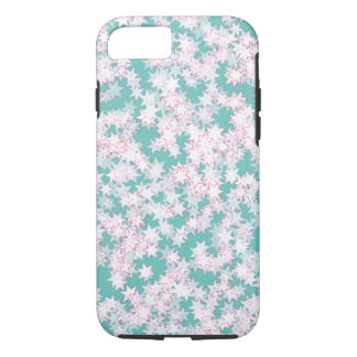 Pink and Mint Green Stars iPhone 7 Case