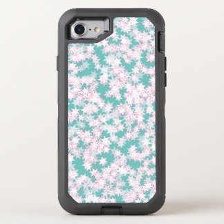 Pink and Mint Green Stars OtterBox Defender iPhone 7 Case