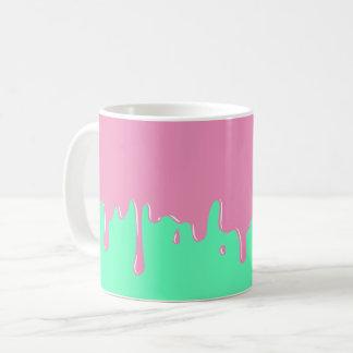 Pink and Mint Slime Dripping Mug