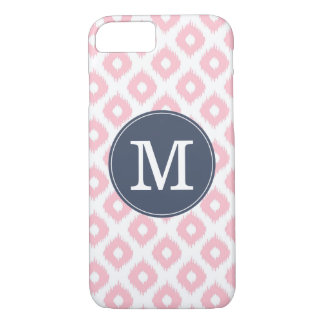 Pink and Navy Ikat iPhone 7 Case