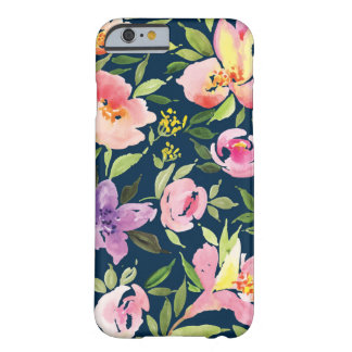 Pink and Navy Watercolor Floral case