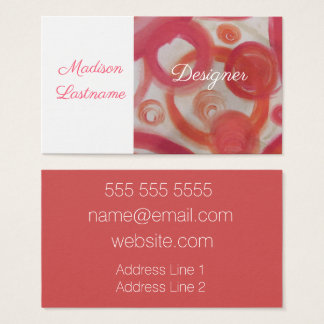 Pink and Orange Abstract Business Card