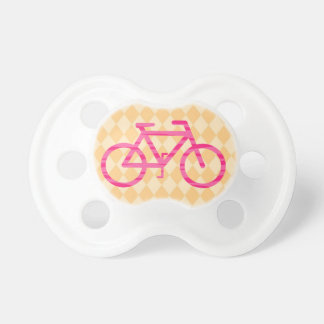 Pink and Orange Bicycle Pacifier