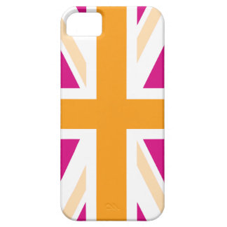 Pink and Orange British Flag iPhone 5 Cases
