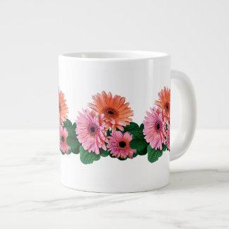 Pink and Orange Gerbera Daisies Jumbo Mug