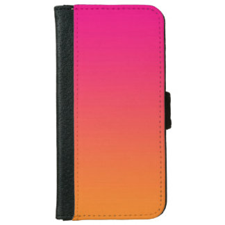 """""""Pink And Orange Ombre"""" iPhone 6 Wallet Case"""