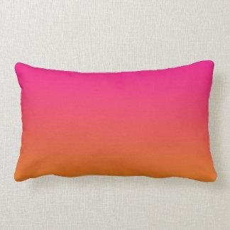 """""""Pink And Orange Ombre"""" Lumbar Pillow"""