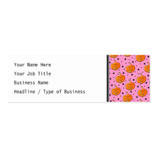 Pink and Orange Pattern for Halloween Business Card