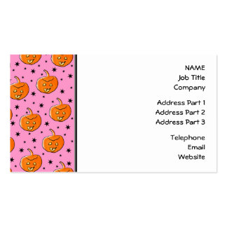 Pink and Orange Pattern for Halloween Business Cards