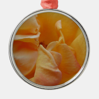 Pink and Orange Petals Silver-Colored Round Ornament