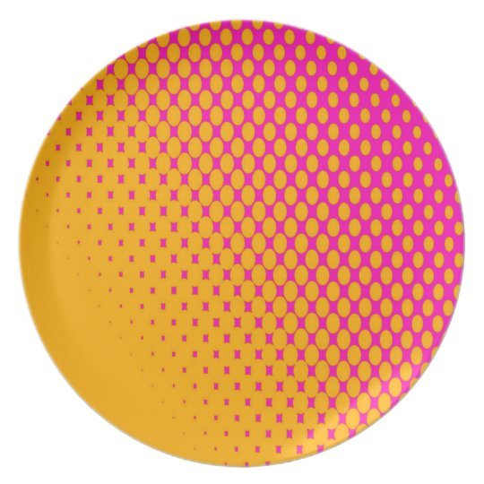 Pink and Orange Plate