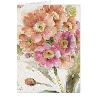 Pink and Orange Primrose Card
