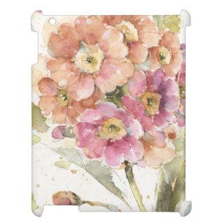 Pink and Orange Primrose iPad Cases