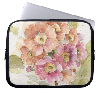 Pink and Orange Primrose Laptop Sleeve