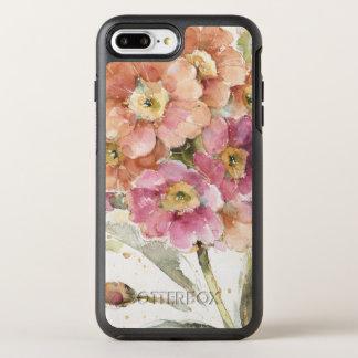 Pink and Orange Primrose OtterBox Symmetry iPhone 7 Plus Case