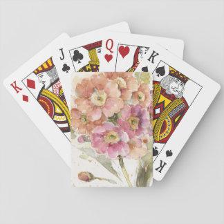 Pink and Orange Primrose Playing Cards