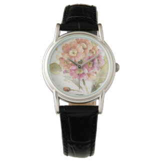 Pink and Orange Primrose Watch