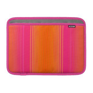 Pink and Orange Striped Pattern Sleeve For MacBook Air