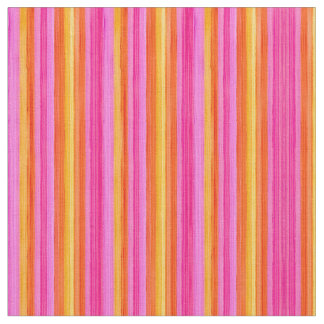 Pink and orange stripes design fabric