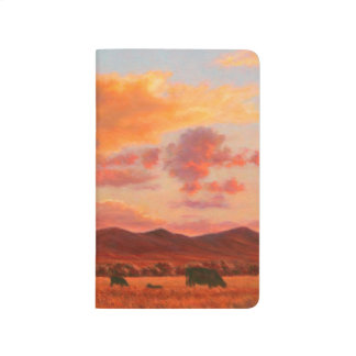 Pink and Orange Sunset Pocket Journal