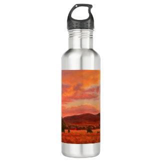 Pink and Orange Sunset Water Bottle
