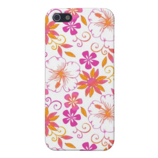 Pink and Orange Tropical Flower Pern iPhone 5 Covers