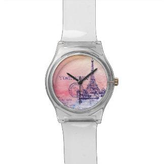 Pink and Pastels Impressionist Paris France Wristwatches