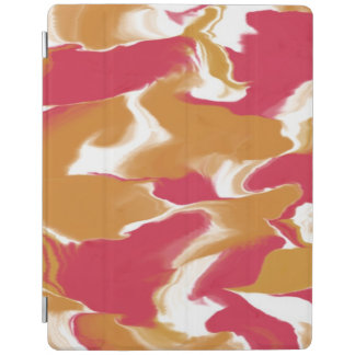 Pink and Peachy Swirl iPad Cover