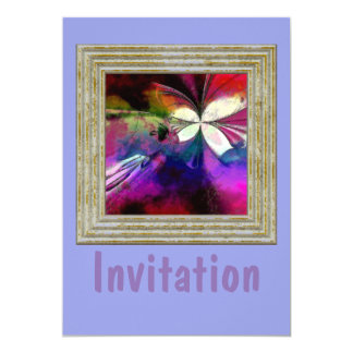 Pink And Purple Abstract Card