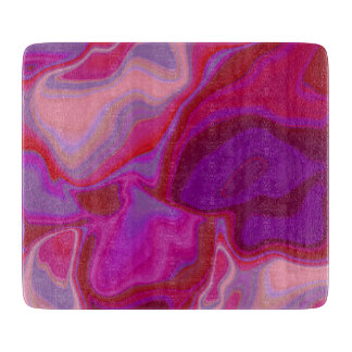 Pink and Purple Abstract Cutting Board