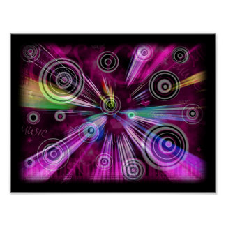 Pink And Purple Abstract Poster