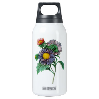 Pink and Purple Aster by Pierre-Joseph Redouté Insulated Water Bottle