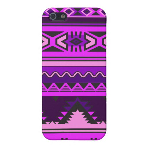 Pink and Purple Aztec Pattern iPhone Cover Case For iPhone 5
