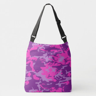 Pink and Purple Camo Crossbody Bag