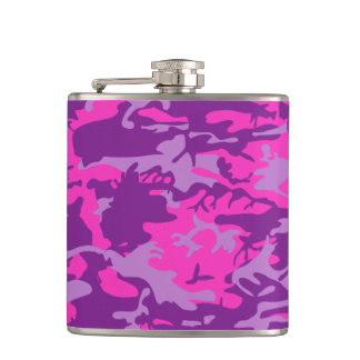 Pink and Purple Camo Flask