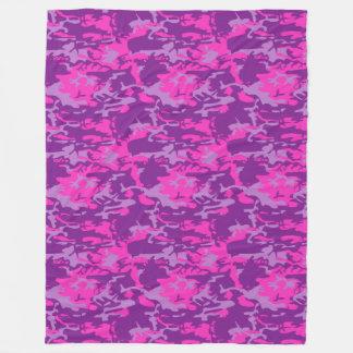 Pink and Purple Camo Fleece Blanket