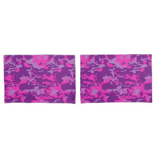 Pink and Purple Camo Pillowcase